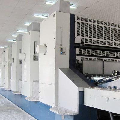 日本进口小森彩色印刷机