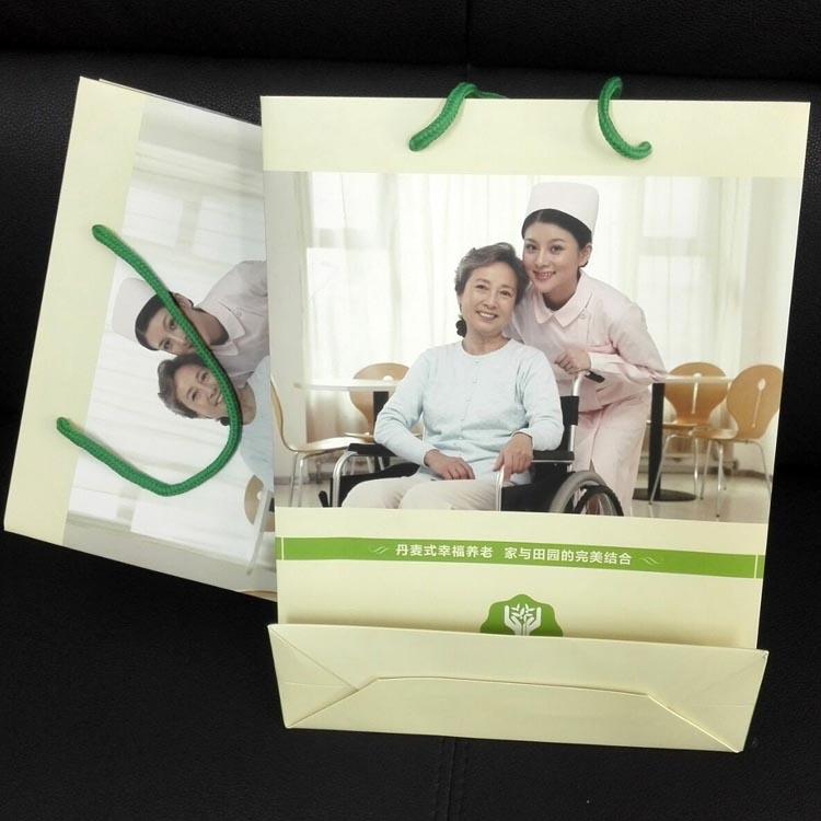 上海颐和苑老年服务中心手提袋印刷交货了!