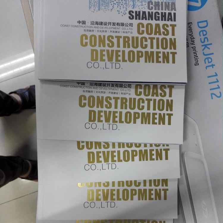 沿海建设开发公司高端行画册设计印刷